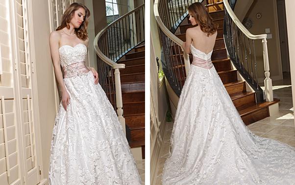 Rochie de mireasa Da Vinci Bridal cu talie accentuata