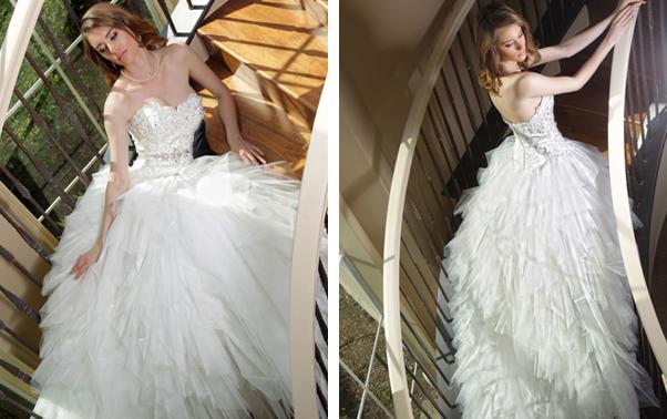 Rochie de mireasa Da Vinci Bridal tip printesa